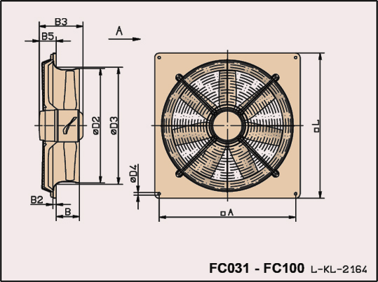 Plate Fan Sizes FC0031_FC100