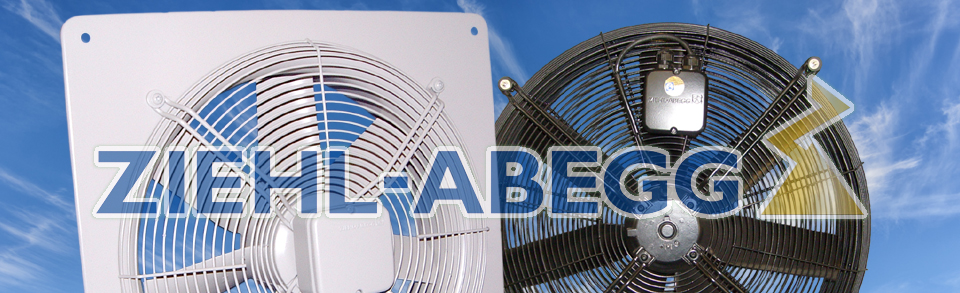 Page Banner for Ziehl-Abegg Agricutral fans & link to Ziehl Website