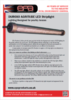 EPA LED Striplight Specification Sheet