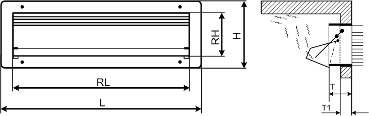 LEP Side Wall Air Inlet Diagram